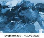 blue creative abstract hand... | Shutterstock . vector #406998031