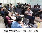 asian software developers...   Shutterstock . vector #407001385