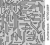 neutral hi tech vector seamless ... | Shutterstock .eps vector #407001889