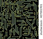 neutral hi tech vector seamless ... | Shutterstock .eps vector #407001901