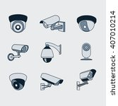 set of icons surveillance... | Shutterstock .eps vector #407010214