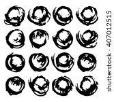vector set of grunge brush...   Shutterstock .eps vector #407012515