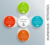 infographic circle template... | Shutterstock .eps vector #407014321