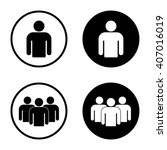 Group Of People Icon In Circle...