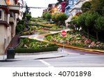 the lombard street in san...   Shutterstock . vector #40701898