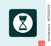 hourglass icon. sand timer...