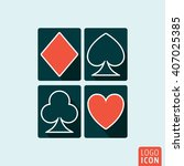playing cards suit icon. poker...