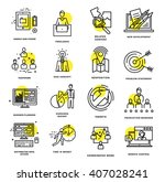 thin line icons set. business... | Shutterstock .eps vector #407028241