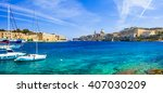 Panoramic View Of Valetta With...