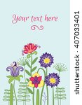 greeting card template with...   Shutterstock .eps vector #407033401
