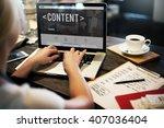 content data blogging media... | Shutterstock . vector #407036404
