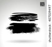 brush stroke and texture.... | Shutterstock .eps vector #407039497