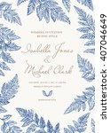 vintage wedding invitation in a ... | Shutterstock .eps vector #407046649
