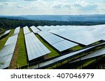 solar power plant in the... | Shutterstock . vector #407046979