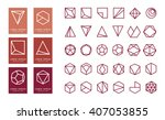 collection of thin 30 icons 6... | Shutterstock .eps vector #407053855