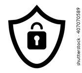 save lock black simple icon   Shutterstock .eps vector #407070589