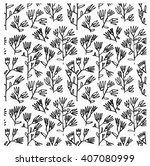 hand drawn pattern with hand... | Shutterstock .eps vector #407080999