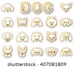 dog   icon | Shutterstock .eps vector #407081809