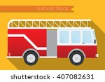 flat design illustration city... | Shutterstock . vector #407082631
