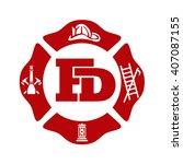 fd logo fire fighter logo  | Shutterstock .eps vector #407087155