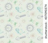 seamless abstract raster... | Shutterstock . vector #407090374