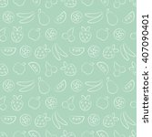 seamless raster patterns with... | Shutterstock . vector #407090401