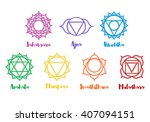 isolated indian ornamental 7... | Shutterstock .eps vector #407094151