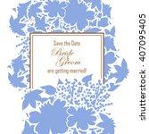 vintage delicate invitation... | Shutterstock .eps vector #407095405