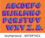 handwriting alphabets. vector... | Shutterstock .eps vector #407097421