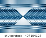 abstract blue metal tech arrows ... | Shutterstock .eps vector #407104129