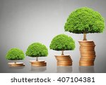 investment concept  coins graph ... | Shutterstock . vector #407104381