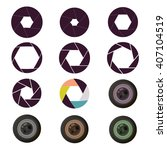 vector camera shutter apertures ... | Shutterstock .eps vector #407104519