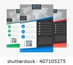 leaflet layout vector... | Shutterstock .eps vector #407105275