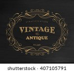 design vintage frame antique... | Shutterstock .eps vector #407105791