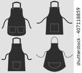black apron set | Shutterstock .eps vector #407118859