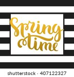 vector calligraphy. hand drawn... | Shutterstock .eps vector #407122327