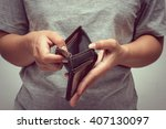 an empty wallet with filter... | Shutterstock . vector #407130097
