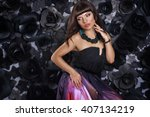 fashion studio photo of... | Shutterstock . vector #407134219