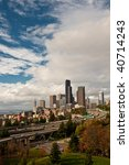 panorama view of downtown... | Shutterstock . vector #40714243