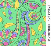 beautiful decorative floral...   Shutterstock .eps vector #407144527