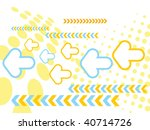 abstract arrow waves background ... | Shutterstock .eps vector #40714726