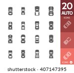 car icons | Shutterstock .eps vector #407147395