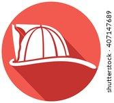 firefighter helmet flat icon | Shutterstock .eps vector #407147689