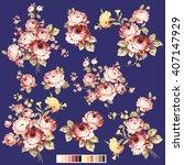 rose flower illustration  | Shutterstock .eps vector #407147929