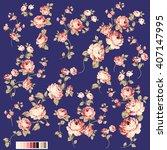 rose flower illustration  | Shutterstock .eps vector #407147995