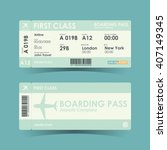 Boarding Pass Tickets Green...