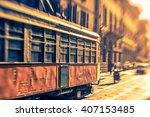 tram in milano | Shutterstock . vector #407153485