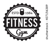 fitness and gym typographic...   Shutterstock .eps vector #407156389