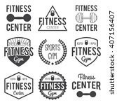 fitness and gym center... | Shutterstock .eps vector #407156407