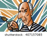 Picasso Style Painting Cartoon